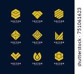 simple geometric logo design... | Shutterstock .eps vector #751061623