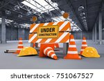 3d rendering under construction ... | Shutterstock . vector #751067527