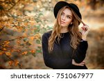 close up portrait of a... | Shutterstock . vector #751067977