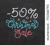 christmas sale sign | Shutterstock .eps vector #751068793