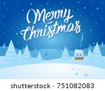 christmas card vector... | Shutterstock .eps vector #751082083