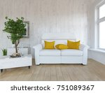 white scandinavian room... | Shutterstock . vector #751089367