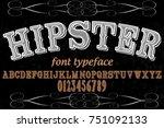 font alphabet vector typeface... | Shutterstock .eps vector #751092133