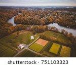 aerial of east brunswick new... | Shutterstock . vector #751103323