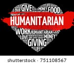 humanitarian heart word cloud... | Shutterstock . vector #751108567