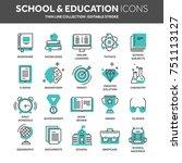 school education  university.... | Shutterstock .eps vector #751113127