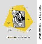 creative modern classical... | Shutterstock .eps vector #751113853
