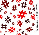 hashtag icon seamless pattern.... | Shutterstock .eps vector #751120753