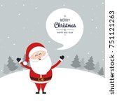 santa claus wave greeting merry ... | Shutterstock .eps vector #751121263