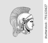 classical sculpture. vector... | Shutterstock .eps vector #751123627