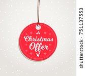 christmas offer badge | Shutterstock .eps vector #751137553