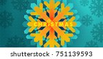 christmas background. new year... | Shutterstock .eps vector #751139593