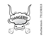 bull head with speech bubble...