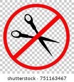 prohibited sign do not cut ... | Shutterstock .eps vector #751163467