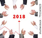 clapping for new year success | Shutterstock . vector #751163623
