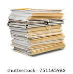 file folders with documents... | Shutterstock . vector #751165963