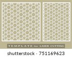 abstract cutout panels set for... | Shutterstock .eps vector #751169623