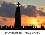 sunset over cabo da roca  near... | Shutterstock . vector #751169767