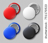 advertise blank color round... | Shutterstock . vector #751170523