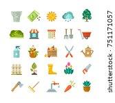 garden tools  gardening... | Shutterstock . vector #751171057