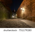 night street. narrow street....   Shutterstock . vector #751179283