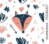 vector fox  pattern  animals