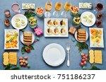 christmas appetizers... | Shutterstock . vector #751186237