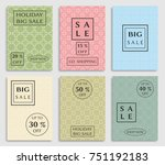 collection of sale banners ... | Shutterstock .eps vector #751192183