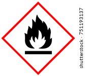flammable substances warning... | Shutterstock . vector #751193137