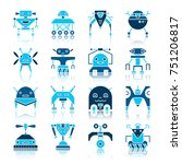 robot color silhouette with... | Shutterstock .eps vector #751206817