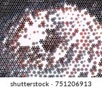 abstract winter background with ... | Shutterstock . vector #751206913