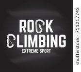 rock climbing club badge.... | Shutterstock .eps vector #751217743
