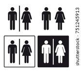 bathroom toilet male female or...   Shutterstock .eps vector #751245913