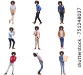 human lifestyle group of people | Shutterstock . vector #751248037