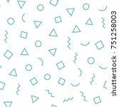 seamless memphis pattern 80's... | Shutterstock .eps vector #751258003