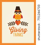happy thanksgiving day card ... | Shutterstock .eps vector #751266733