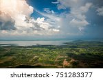 natural with lush green fields  ...   Shutterstock . vector #751283377