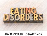 eating disorders word abstract... | Shutterstock . vector #751294273