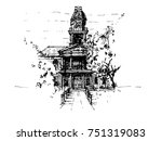 key west building | Shutterstock .eps vector #751319083