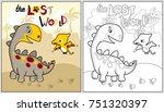 dinosaurs cartoon vector   Shutterstock .eps vector #751320397