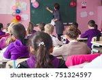 school children are... | Shutterstock . vector #751324597