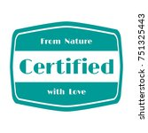 certified products icon  goods... | Shutterstock .eps vector #751325443