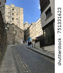 Small photo of EDINBURGH, SCOTLAND/UNITED KINGDOM â?? AUGUST 11, 2017: Miedieval street and buildings in Edinburgh, Capital of Scotland, United Kingdom