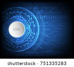 digital future technology...   Shutterstock .eps vector #751335283