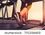 exercise treadmill cardio... | Shutterstock . vector #751336603