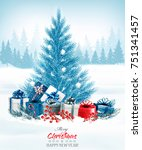 christmas holiday background... | Shutterstock .eps vector #751341457