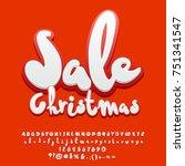 vector christmas sale banner.... | Shutterstock .eps vector #751341547