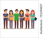 student character flat design.... | Shutterstock .eps vector #751354027