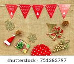the concept of christmas...   Shutterstock . vector #751382797