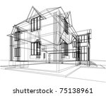 abstract sketch of house.... | Shutterstock .eps vector #75138961